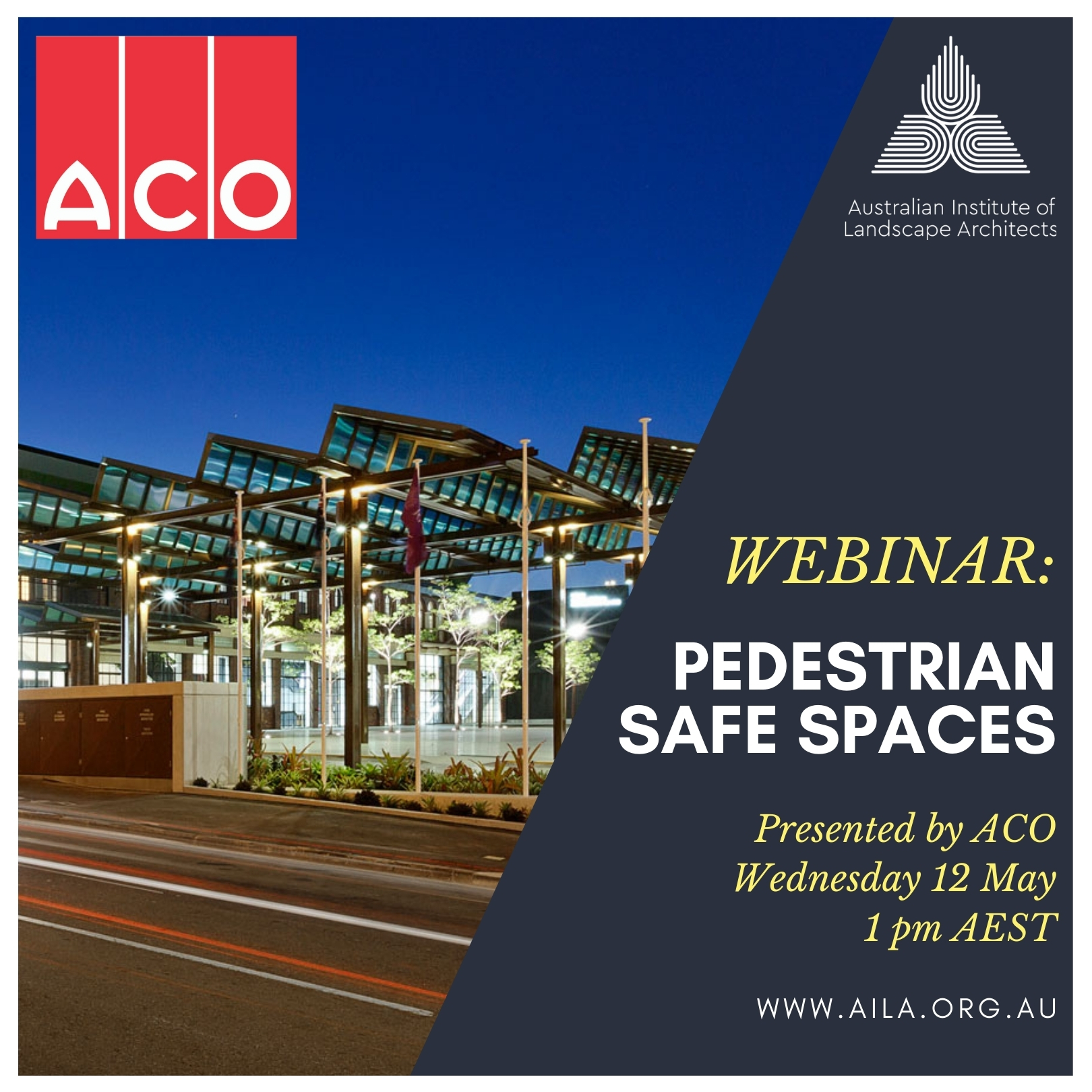 WEBINAR: Pedestrian Safe Spaces