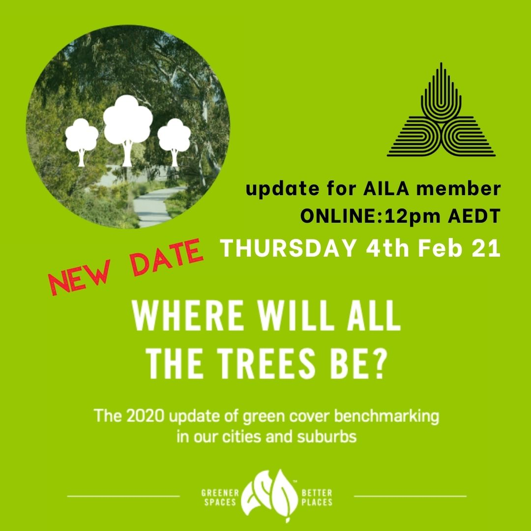 NSW 2020 Where Will All the Trees Be? NEW DATE