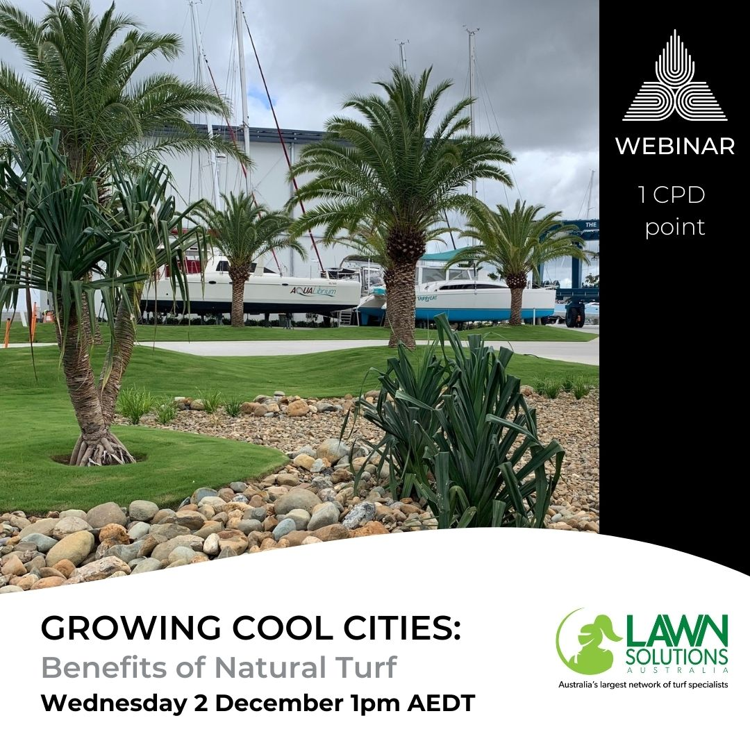 WEBINAR: Growing Cool Cities - Benefits of Natural Turf